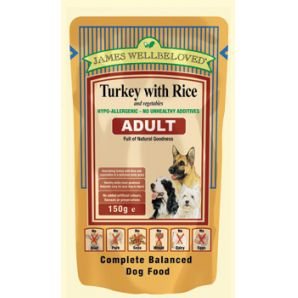 Adult - Turkey and rice pouches 150g