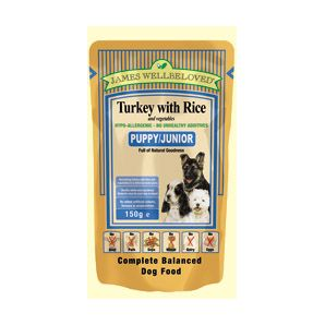 Puppy / Junior - Turkey and rice pouches 150g